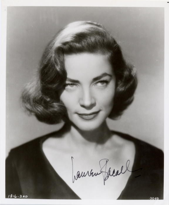 Bacall, Lauren (1924- ) Head and shoulders shot